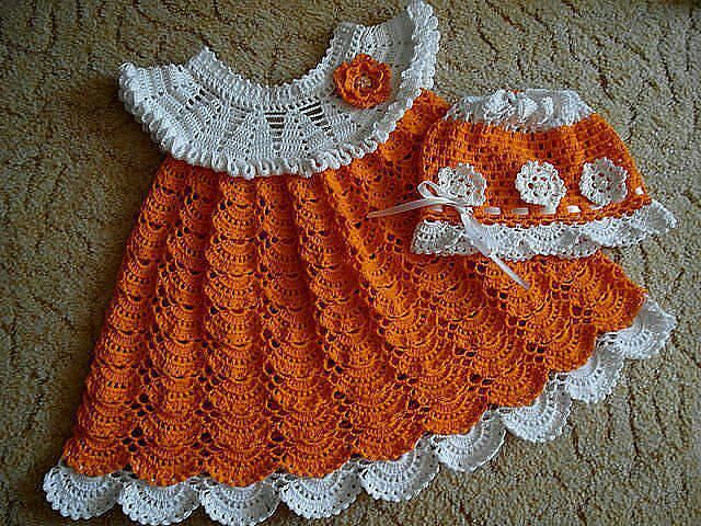 Pin de Misty Hyatt-Haak en crochet | Pinterest | Vestidos niña, Bebé ...