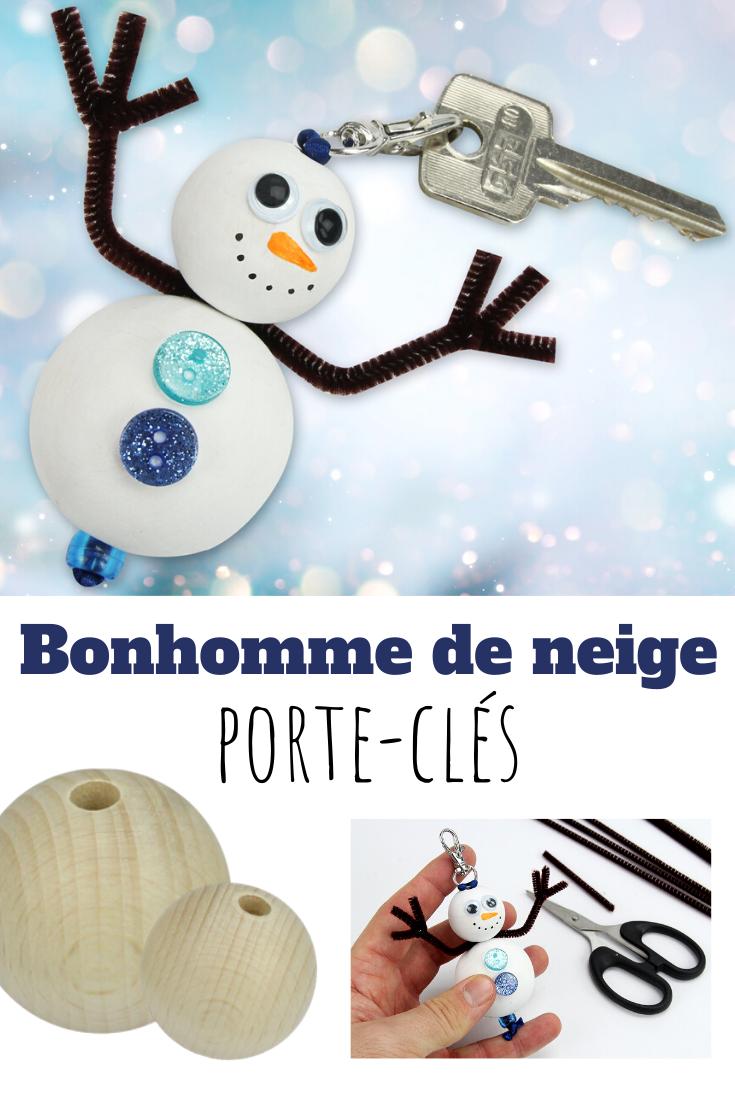 Fabriquer Porte Clé Facile porte-clés bonhomme de neige - noël | bonhomme de neige