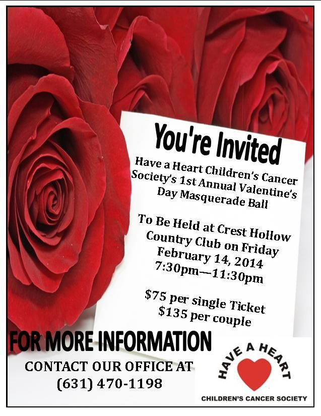 Valentine's Day Masquerade Ball! A good Cause and a Good time!