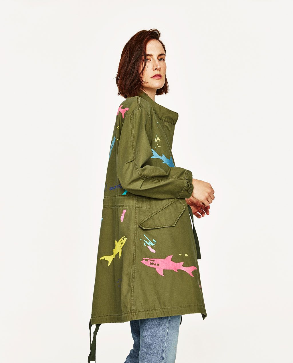 1752cf61 PARKA WITH EMBROIDERED SHARKS MAUI AND SONS ®-OUTERWEAR-WOMAN-SALE | ZARA  United Kingdom