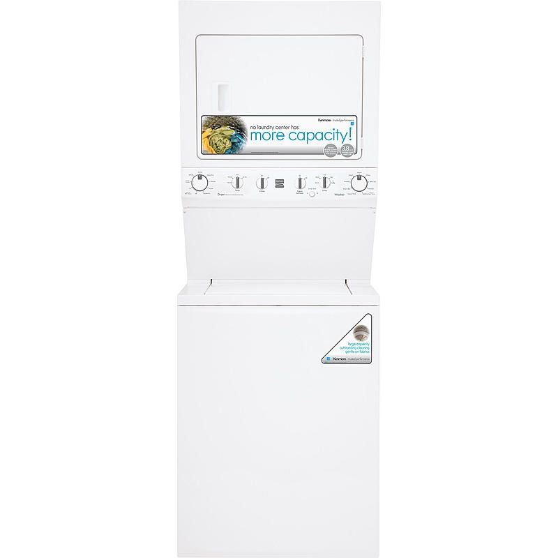 Kenmore 61722 3 8 Cu Ft Electric Laundry Center White Laundry