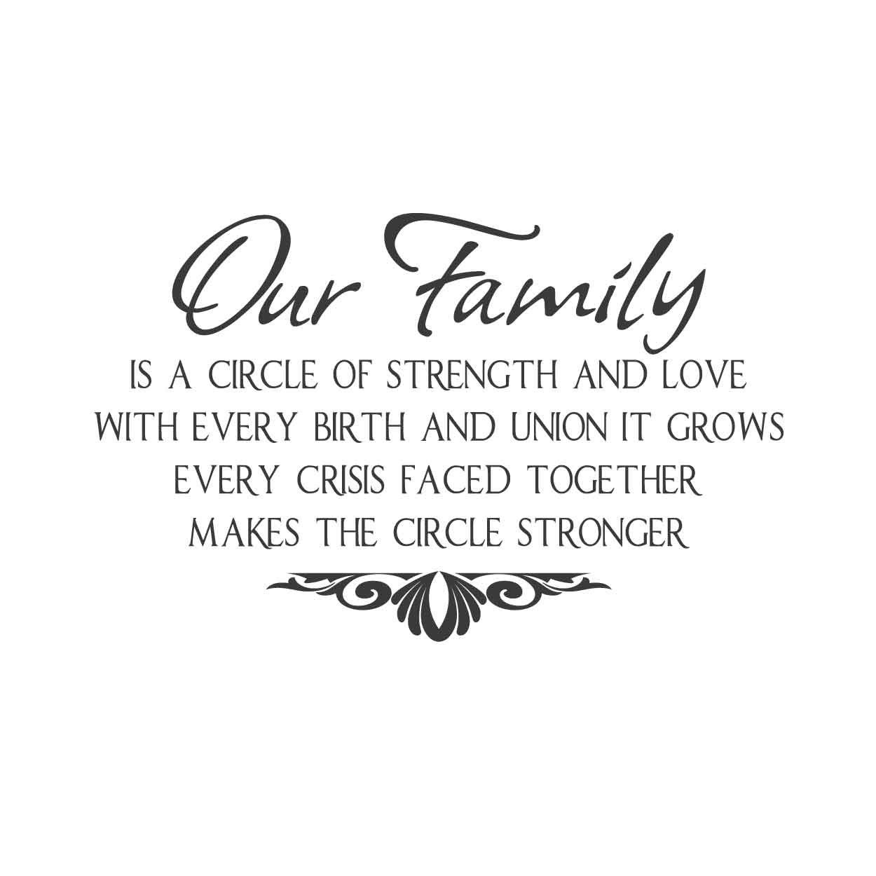 Wall Quotes Wall Decals Our Family Family Quotes Strong Family Love Quotes Family Quotes Inspirational