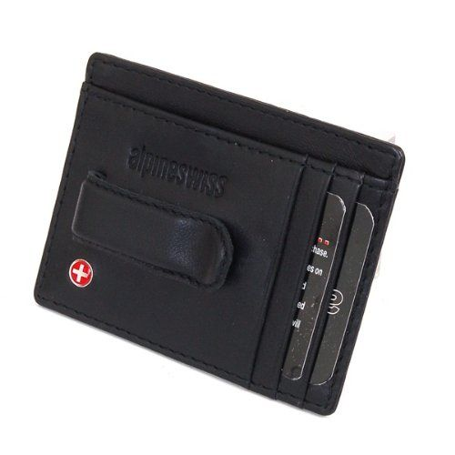 Small Swiss Genuine  Leather Wallet Men Credit Card ID Holder Slim  Purse Bag