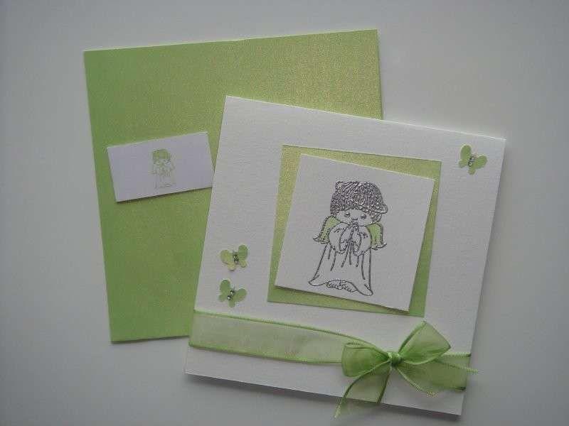 spesso Inviti comunione fai da te e da stampare - Invito con angioletto  QB62