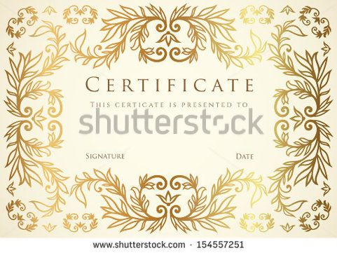 Floral Scroll Design | Certificate, Diploma of completion template ...