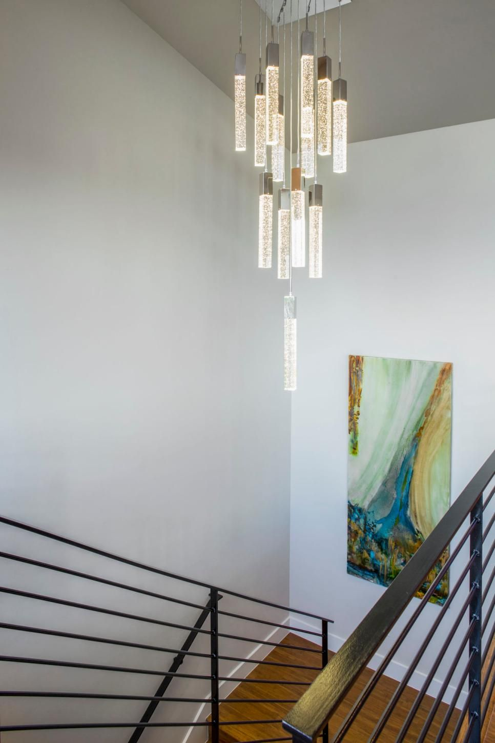 This stairwell became a main focal point with the addition of the this stairwell became a main focal point with the addition of the amazing light fixture and arubaitofo Images