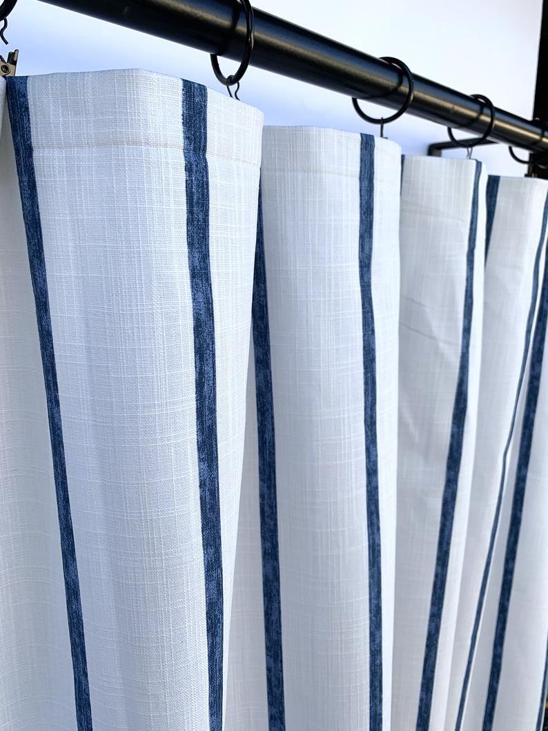 Navy Blue Curtains Blue Curtain 2 Curtain Panels Curtains Home