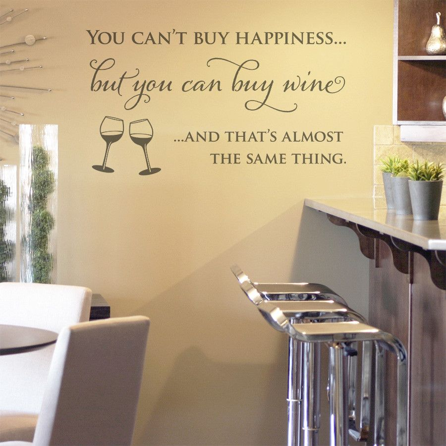 Wine and Happiness\' Wall Sticker Quote : Available from : www ...