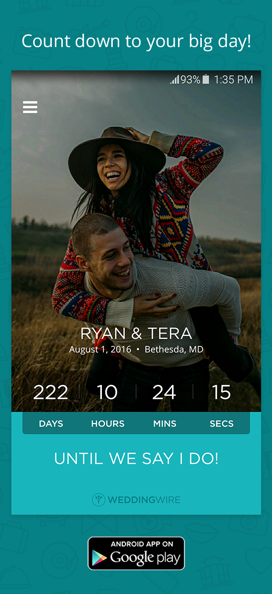 Plan your wedding onthego! Download the WeddingWire app
