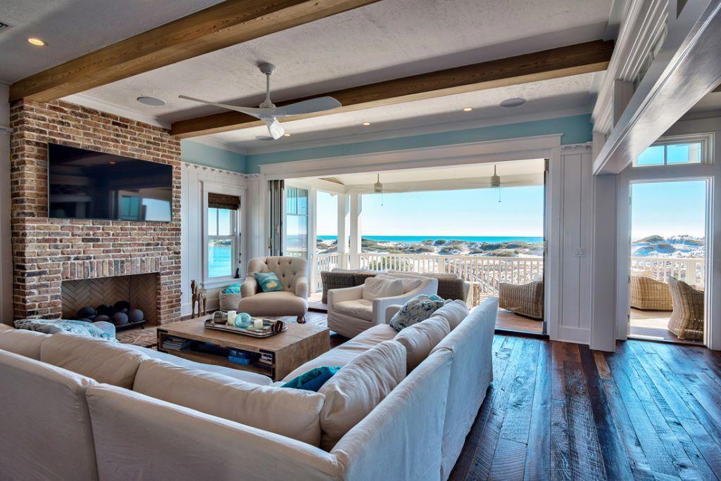 dreamy beach house family room #beachhousedecorlivingroom Beach