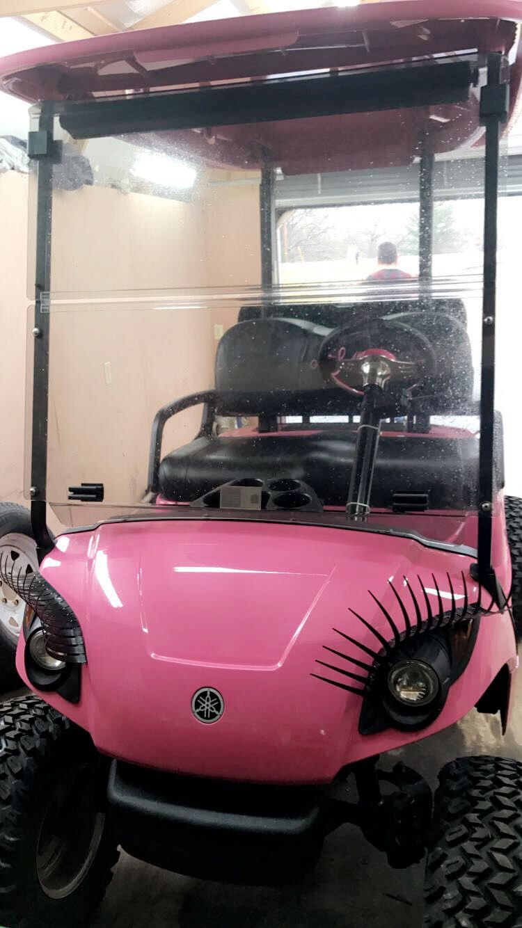 How Cute Are These Eyelashes Golf Carts Pinterest Golf Carts