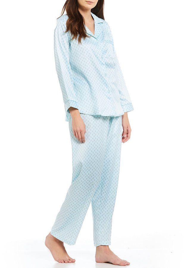 Miss Elaine Petite Paisley BrushedBack Satin Pajamas Products