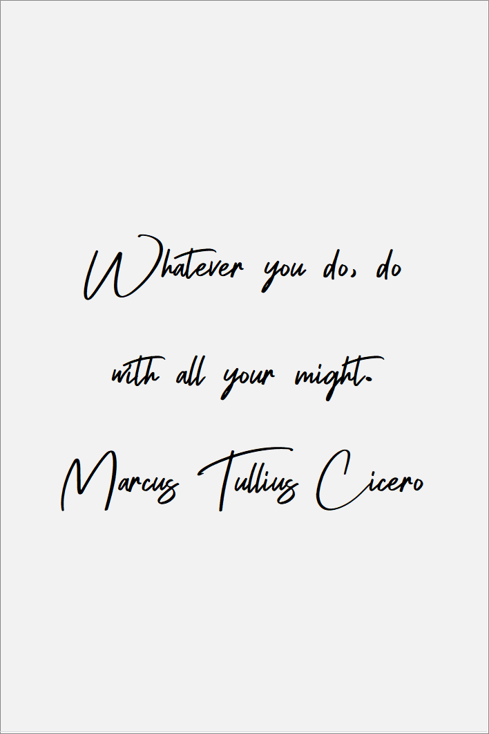 Whatever you do do with all your might. Marcus Tullius Cicero   #lifequotes #relationships #lovequotes #inspirational #truths