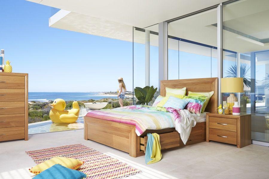 Capri Queen Size Timber Bed | Bedshed | Master bedroom | Pinterest