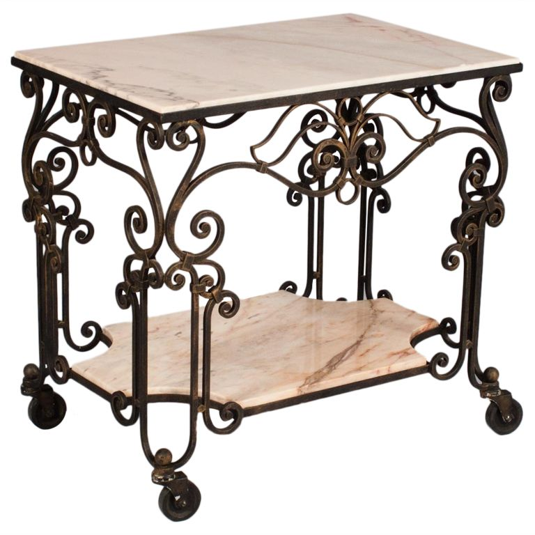 French Forged Iron Serving Table | Hierro forjado, Hierro y Mesa de ...