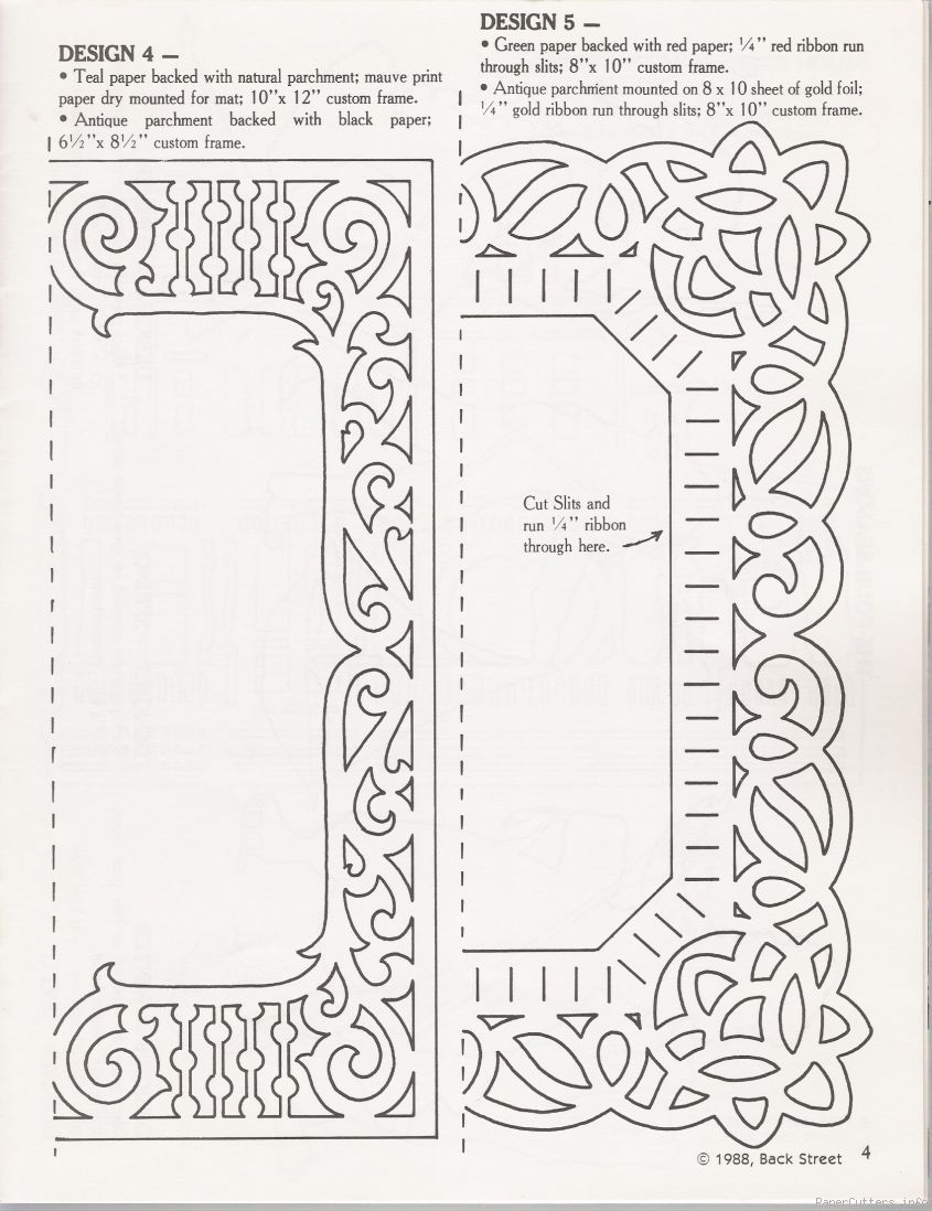 paper cut frame template paper cutters patterns templates