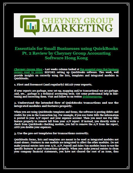 Essentials for Small Businesses using QuickBooks Pt 2 Review by - essential financial statements business