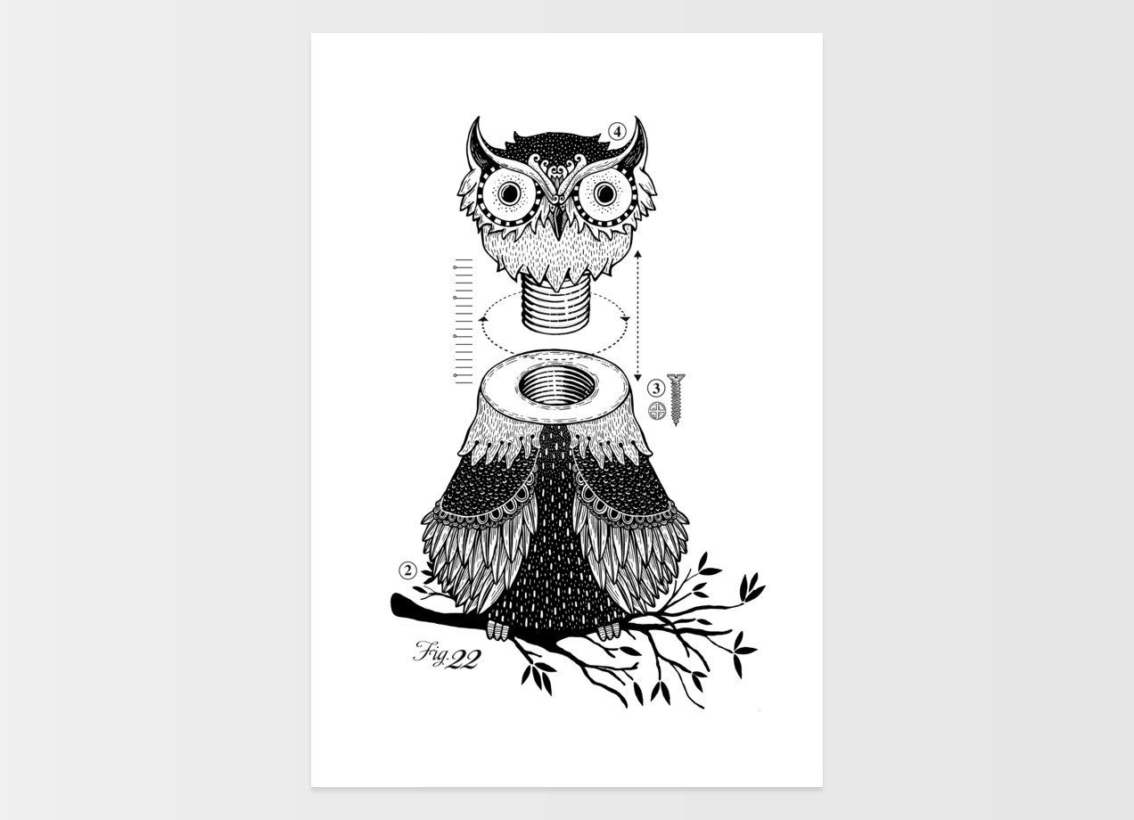 Unscrewed Owl by Montt | Threadless