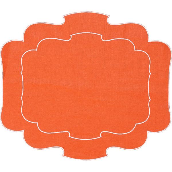 La Gallina Matta Parentesi Placemat Placemats Orange Placemats Woven Placemats