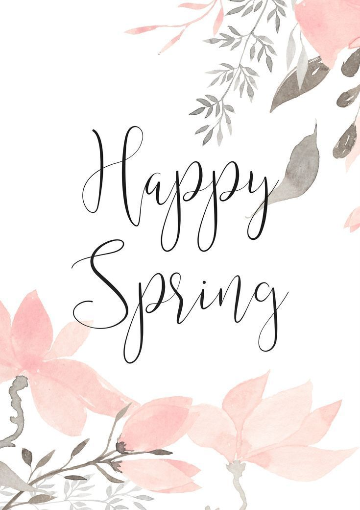 Happy Spring - Feiern wir mit einem schönen kostenlosen Ausdruck