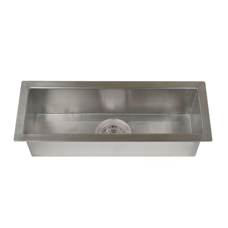 23 Option Executive Zero Radius Stainless Steel Trough Sink 269 Made Of 16 Gauge 304 Grade Stainle Trough Sink Stainless Steel Undermount Prep Sink