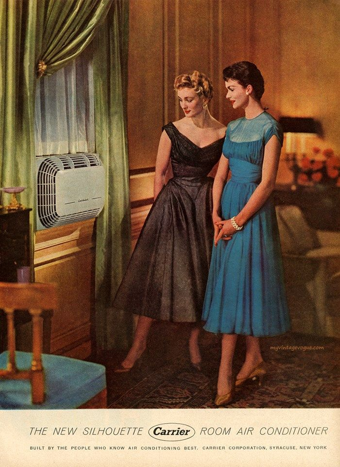 1954 Carrier Air Conditioner Vintage Ad The New Silhouette