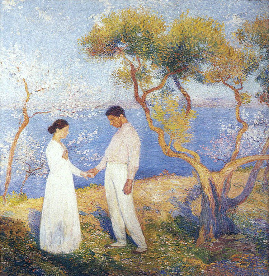 Lovers   Henri Martin ~ French Post-Impressionist painter   TuttArt@   Pittura * Scultura * Poesia * Musica  