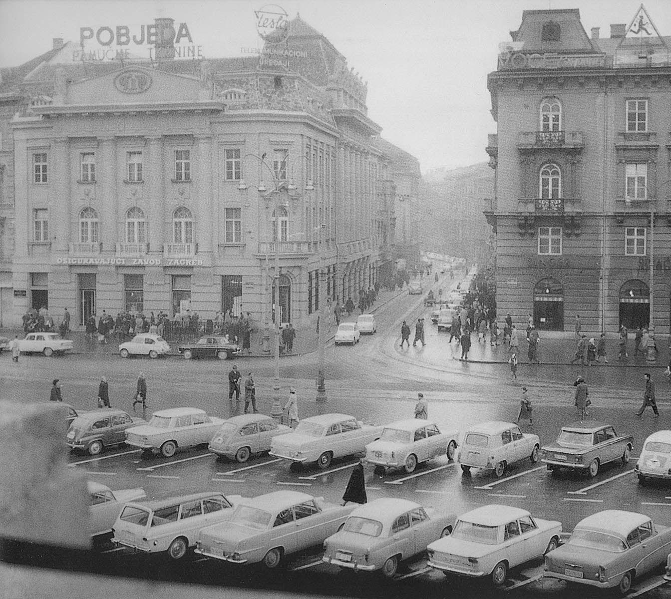 Zagreb 1970 Trg Republike Zagreb Zagreb Croatia Croatia