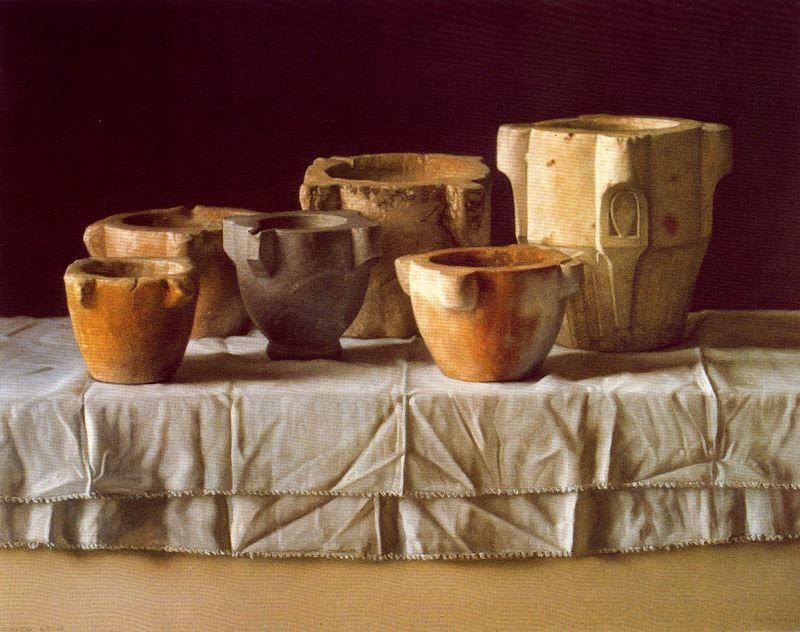d99d90f65 Morteros. 1982. Pastel sobre papel. 59,7 x 75,3 cm. Obra de Claudio ...