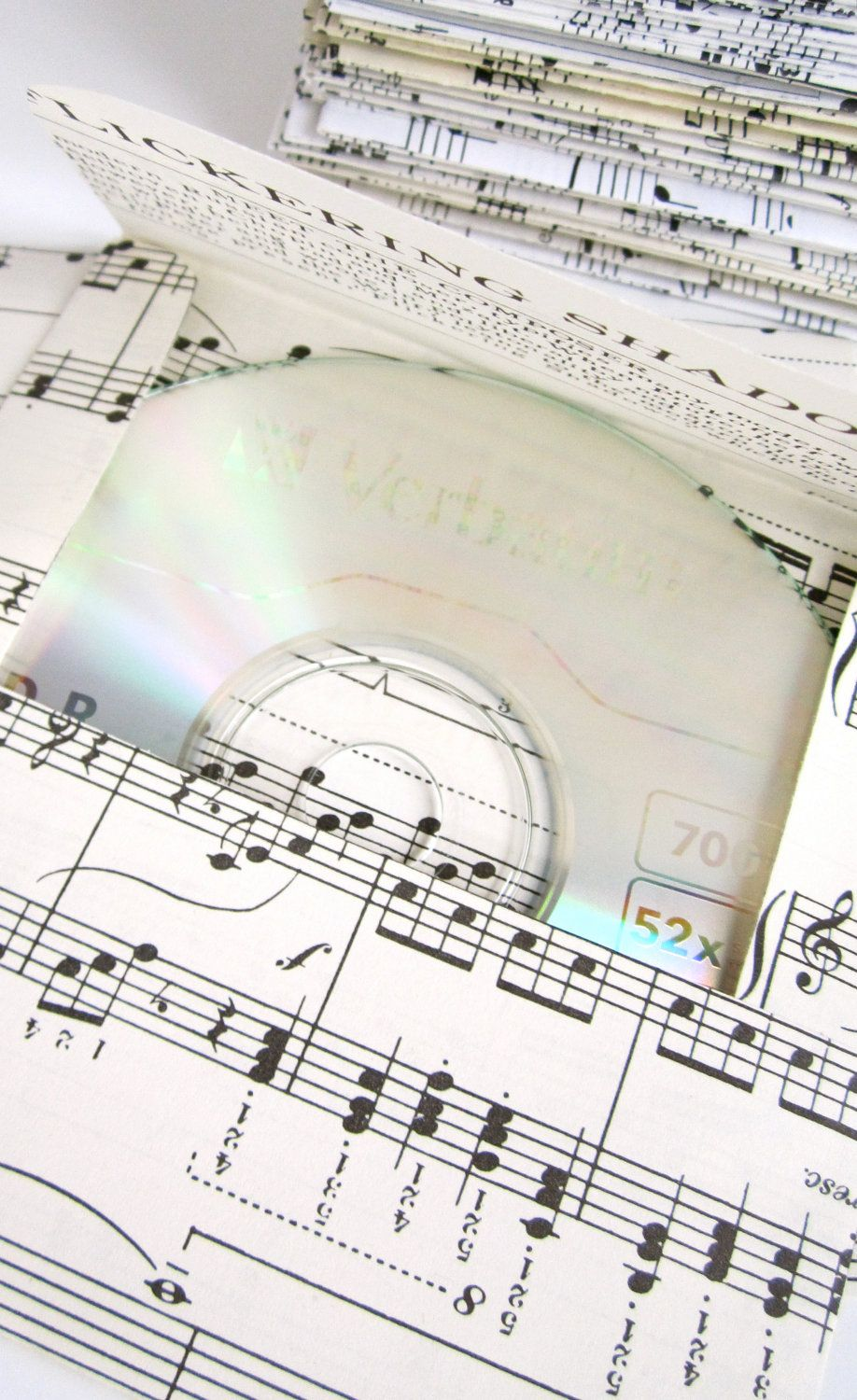 Vintage sheet music 100 cd envelope disc envelope compact disc ...