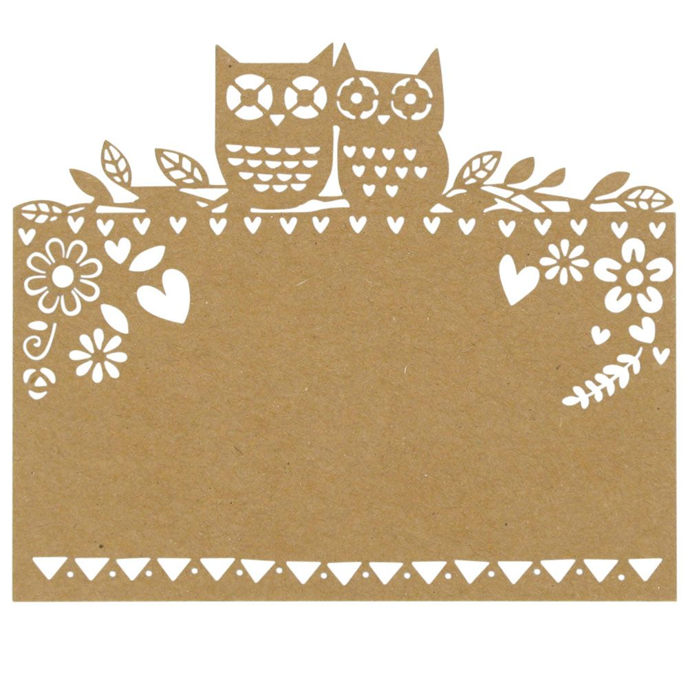 woodland lasercut place cards - pack of 10 from Paperchase ...