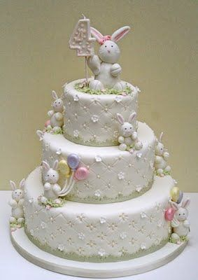 Darling bunny birthday cake, would also be great for Easter