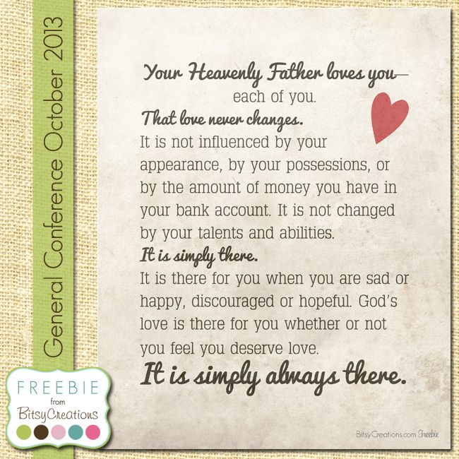 Monson Love Free Printable from BitsyCreations #ReliefSociety #LDSCONF 2013