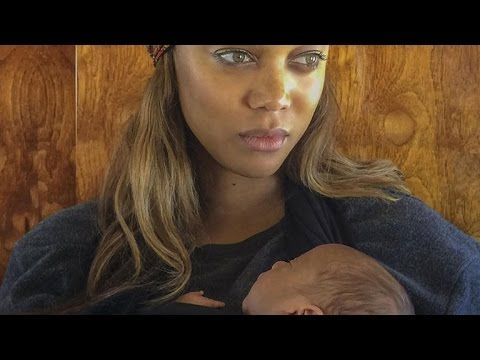 Tyra Banks Shares Stunning First Photo Of Baby York Youtube Celebrity Babies New Baby Products First Mothers Day