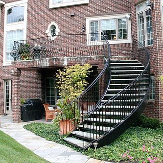 Best See A Pre Fabricated Outdoor Spiral Staircase At The Novi 400 x 300