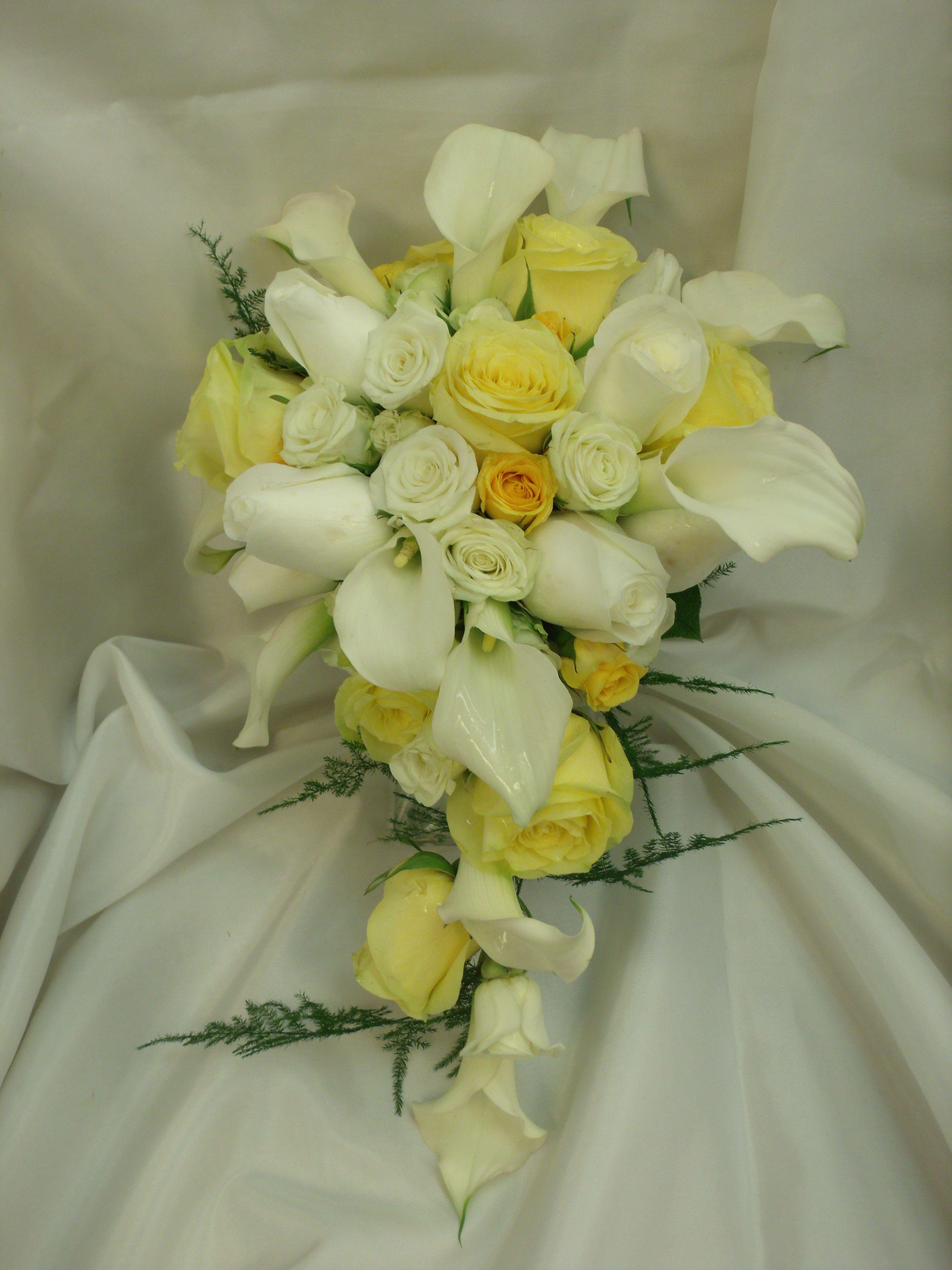 yellow bride Yellow White calla lily Bouquet yellow Gray wedding Yellow gray bouquet Yellow Wedding Bouquet Yellow White Bridal Bouquet