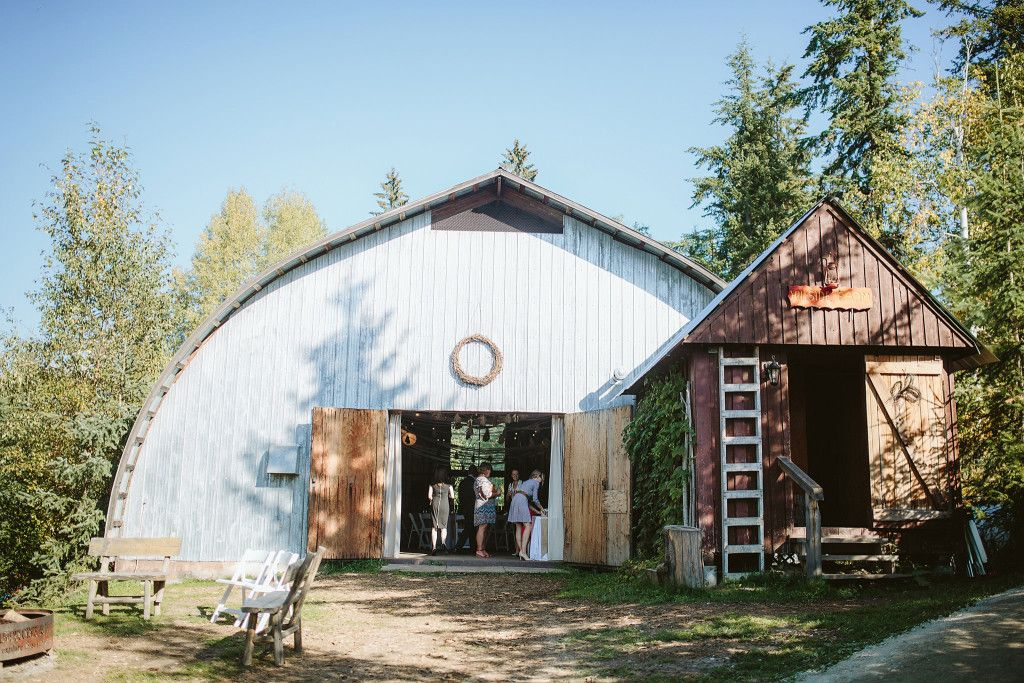unique wedding venues calgary area%0A A barn wedding reception  Hillside Lodge   Chalets in Golden  BC