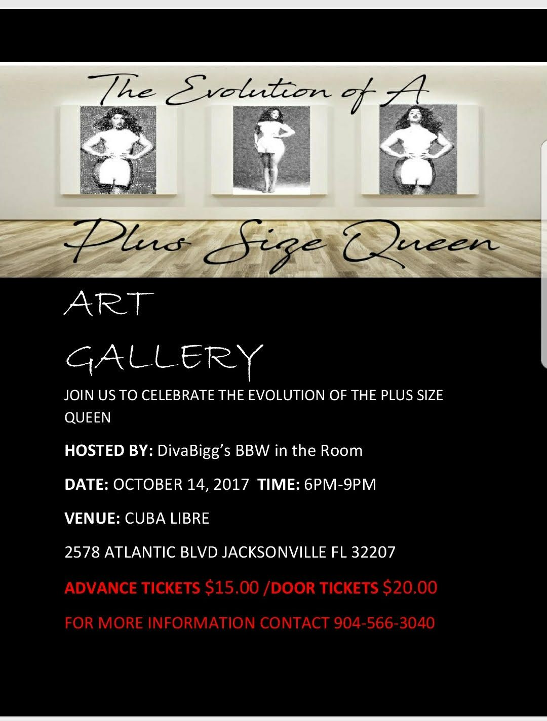 Join us sat for the plus size queen art show hosted by