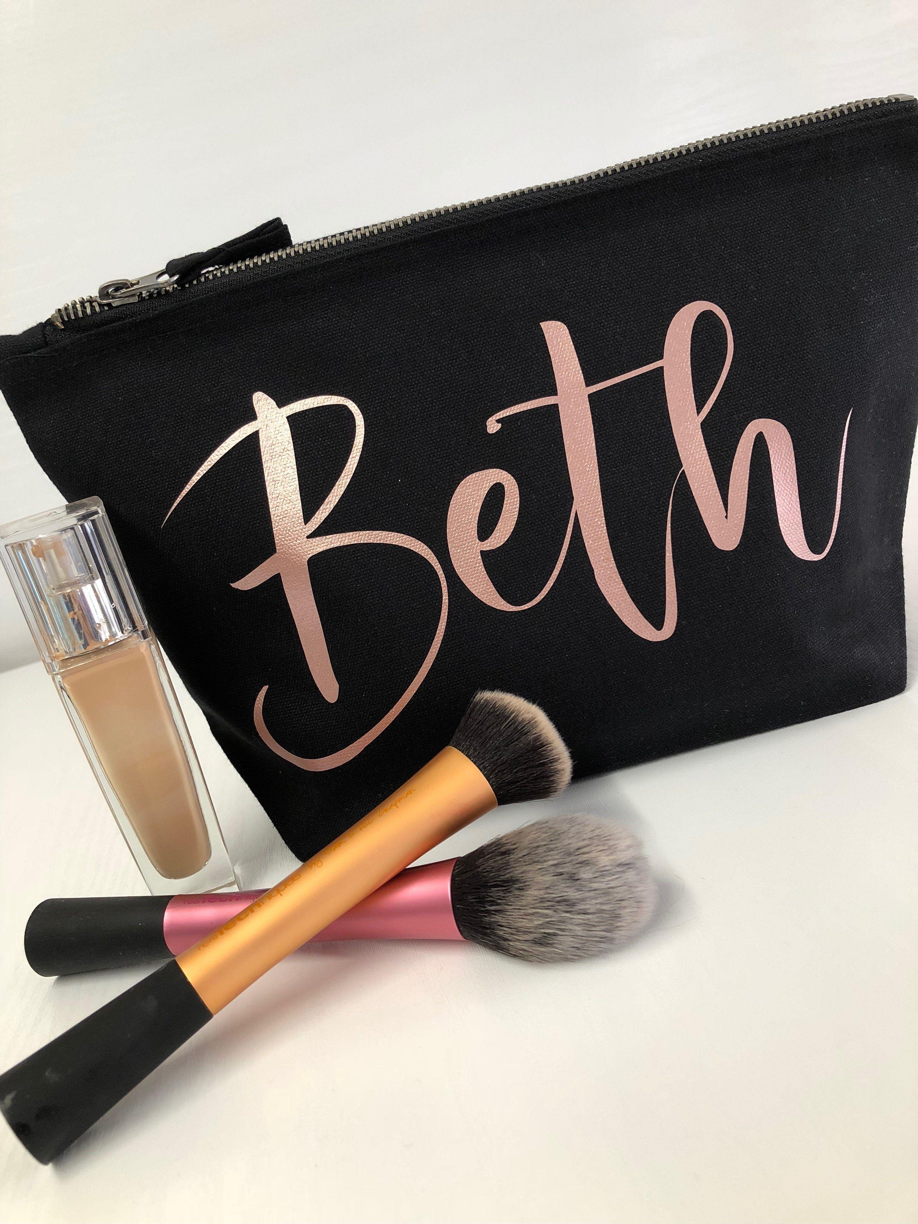 Personalisierte Kosmetiktasche mit ROSE GOLD