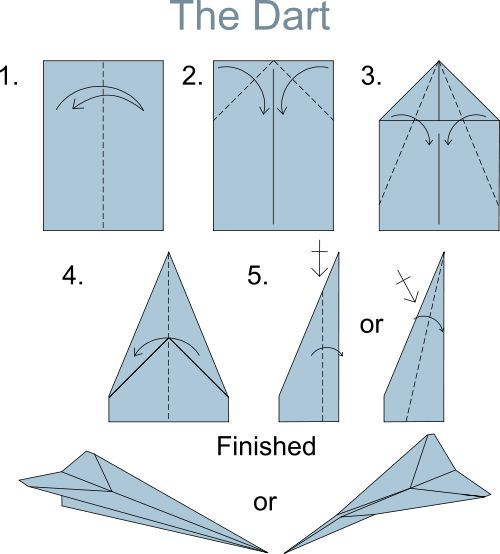 instructions to build a paper airplane