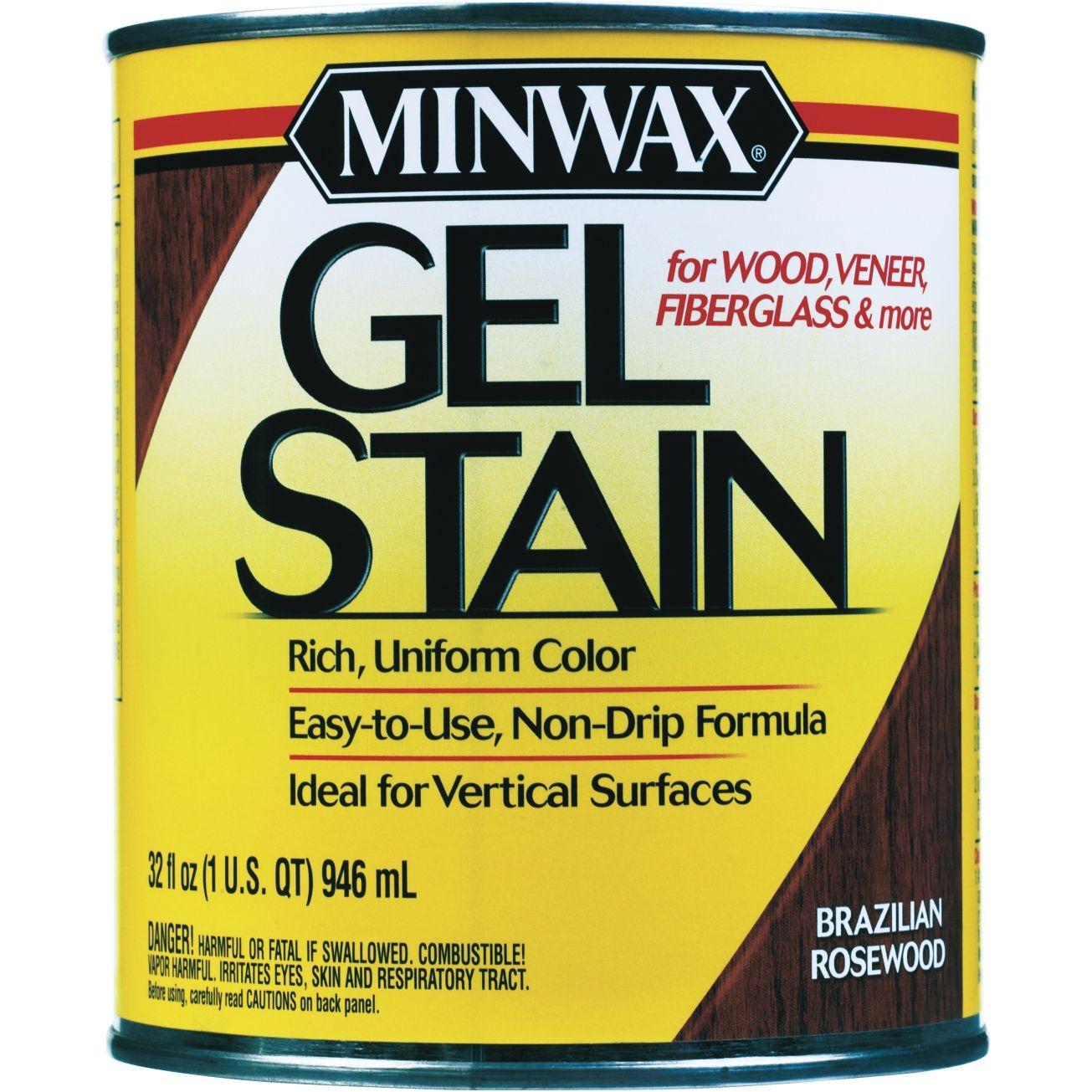 Minwax 1qt Gel Stain In Brazilian Rosewood 66080 Exterior