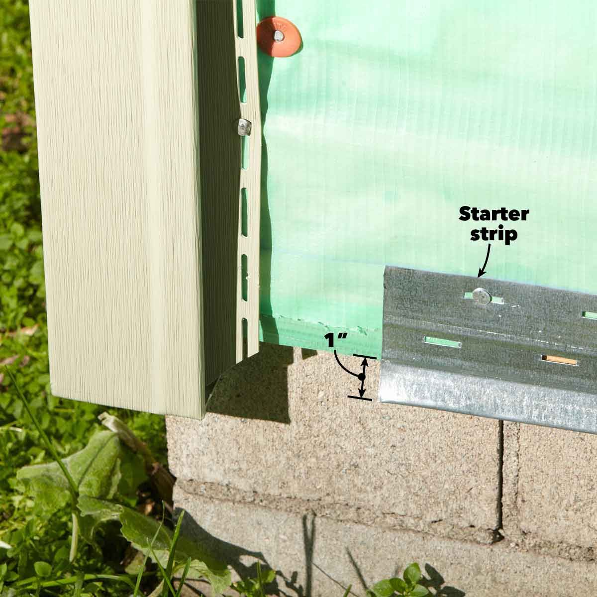 Use The Wider Starter Strip Vinyl Siding Installation Vinyl Siding Installing Siding
