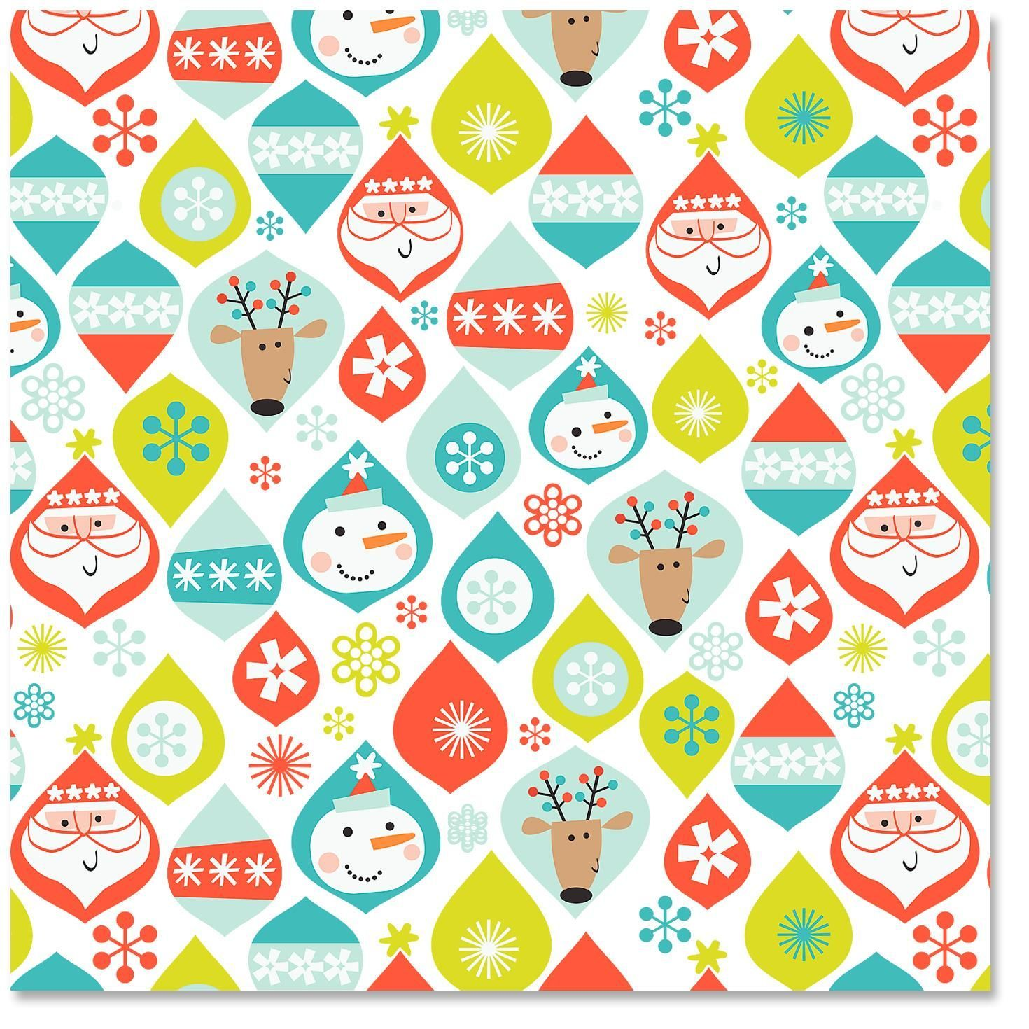 christmas icons ornaments christmas wrapping paper