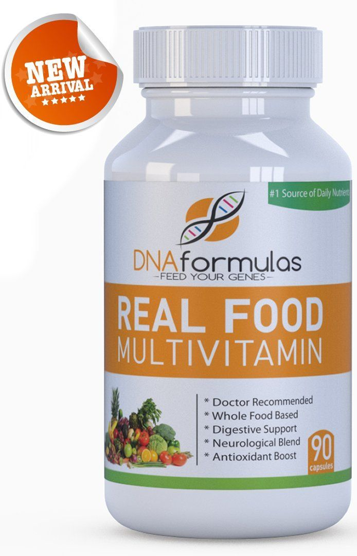 DNA Formulas Whole Food Multivitamin 120 Capsules #1 Rated Whole