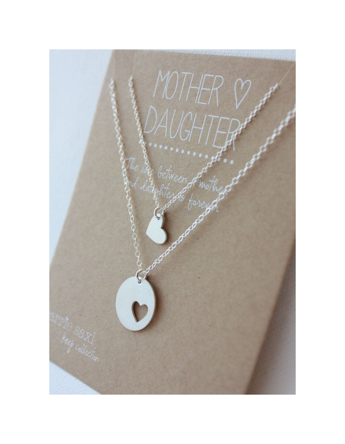 Mother Daughter Necklace Set - mom jewelry gift - mother necklace ...