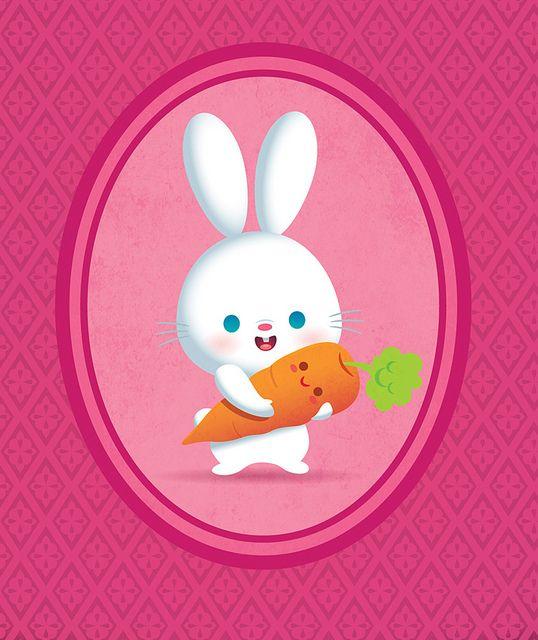 Bunny And Carrot Cute Bunny Cartoon Cute Art Kawaii Bunny