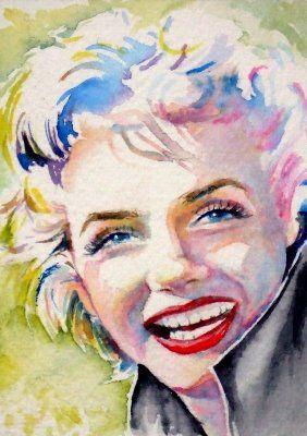 Marilyn Monroe (water Color )