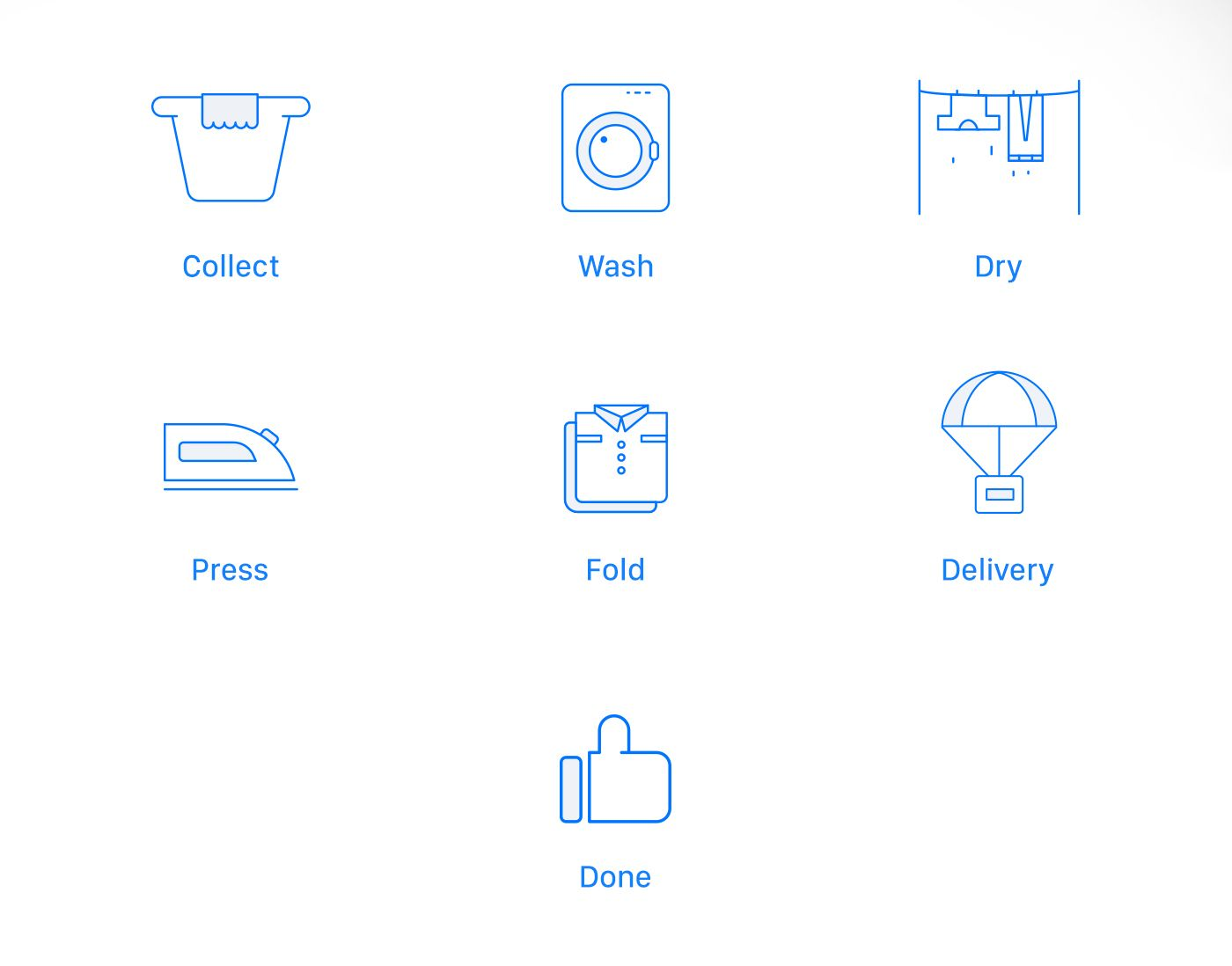 Laundry UI Concept - Interaction on Behance