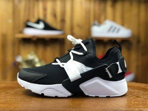 hot sale online 97fd2 98d4c Mens Womens Nike Air Huarache City Low Black White AH6804 002 Running Shoes
