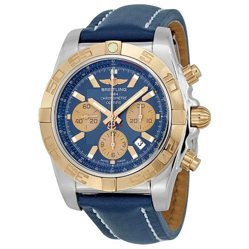 Breitling Chronomat Blue Dial Automatic Watch Cb011012-c790blld. => http://www.amazon.com/Breitling-Chronomat-Automatic-Watch-CB011012-C790BLLD/dp/B00IOSB2WU/watches0906-20/ => Brand, Seller, or Collection Name:Breitling,Part Number:CB011012/C790 - 112X-A20D.1,Case material:Stainless Steel,Dial color:Blue,Bezel material:Uni-directional Rotating 18kt Gold,Warranty type:Contact seller of record